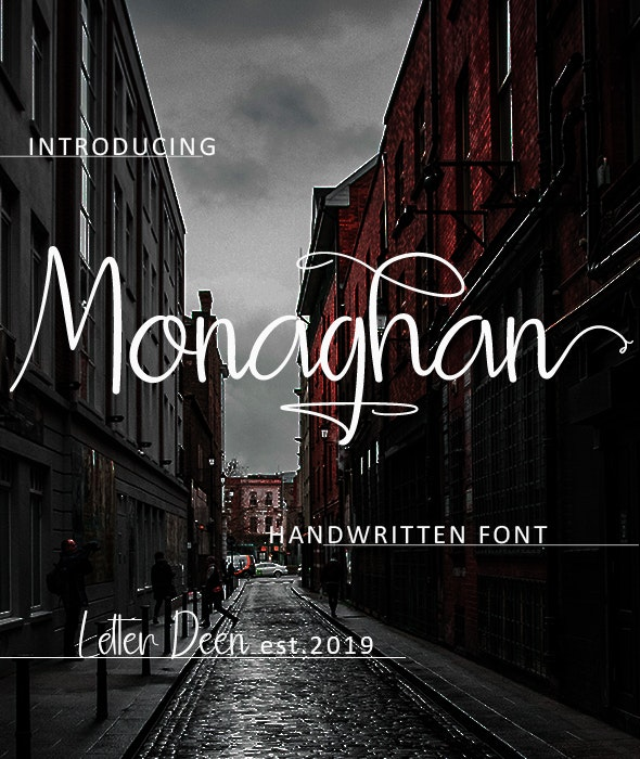Monaghan - Hand-writing Script