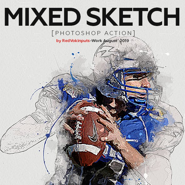 Mixed Sketch Photoshop Action