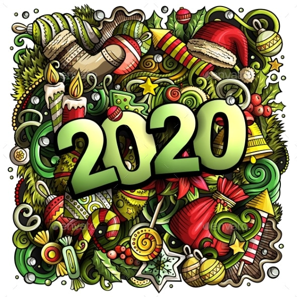 2020 Hand Drawn Doodles Illustration New Year - New Year Seasons/Holidays