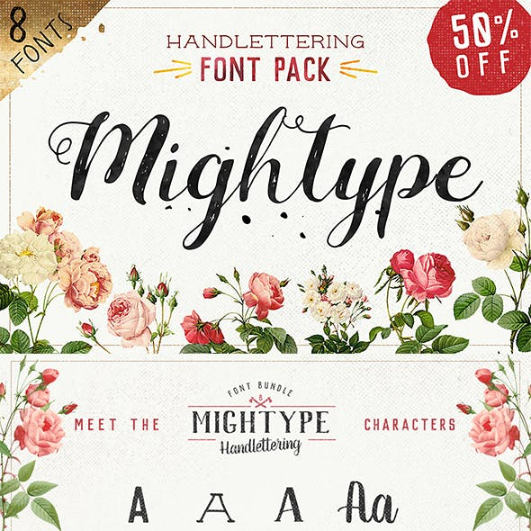 Mightype FontPack Handlettering