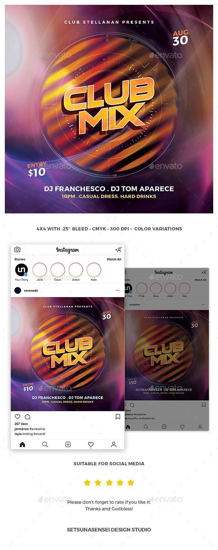 Club Mix Flyer - Events Flyers