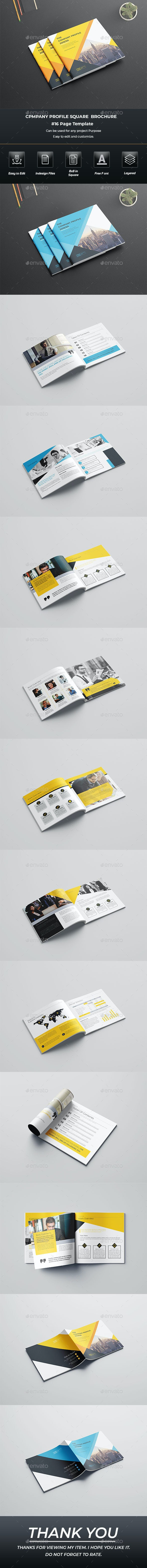 Square Company Profile Brochure Template Indesign - Brochures Print Templates