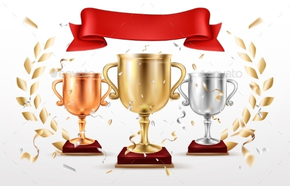Sport Competition Winning Places Prizes Vector - Sports/Activity Conceptual