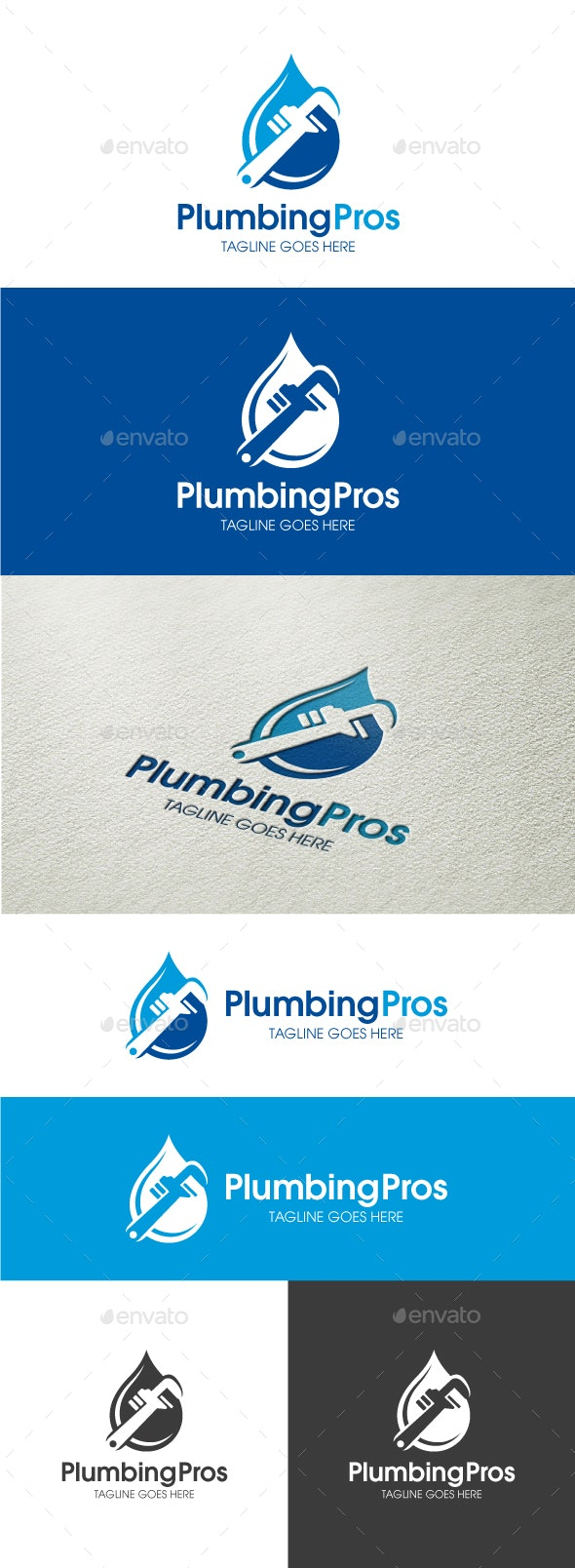 Plumbing Pros - Objects Logo Templates
