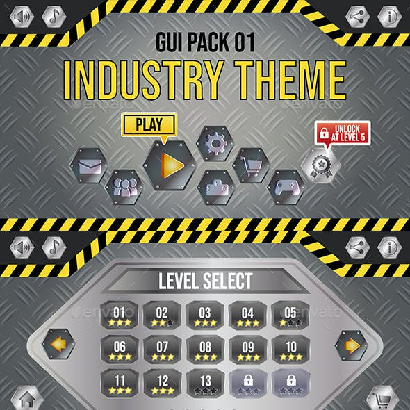 Industry Theme GUI Pack 1