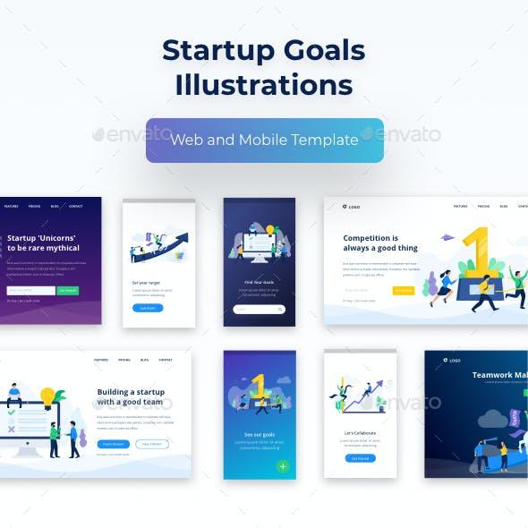 Startup Goals Illustrations