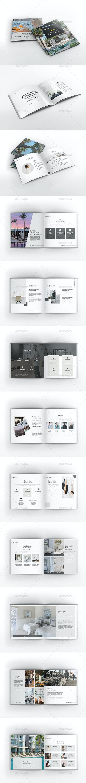 Moxa Hotel Square Brochure Template - Brochures Print Templates