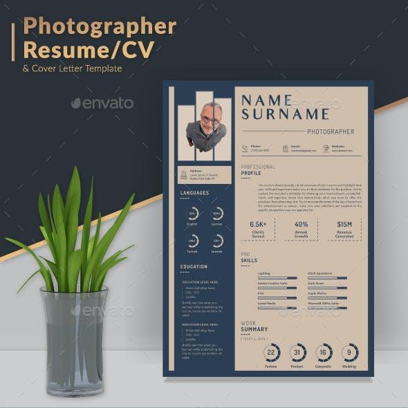 Josh Photographer Resume/CV