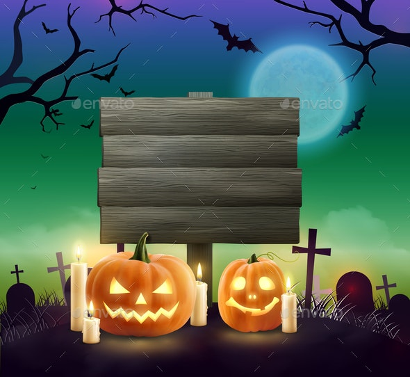 Halloween Realistic Background - Miscellaneous Vectors