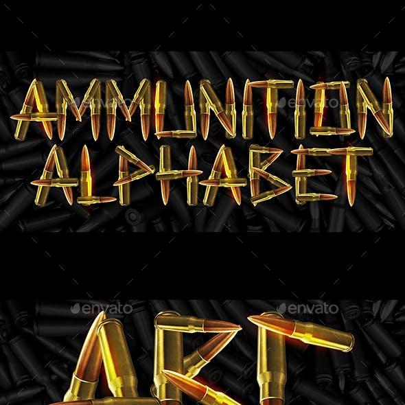 Ammunition Alphabet Letters