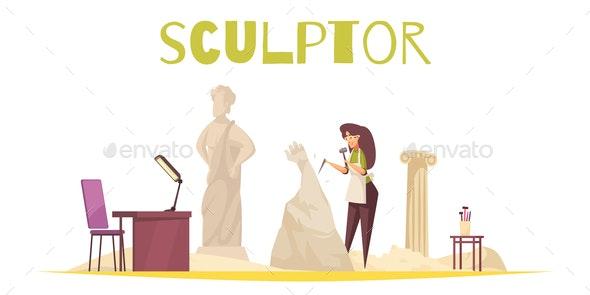 Sculptor Concept Illustration - Miscellaneous Vectors