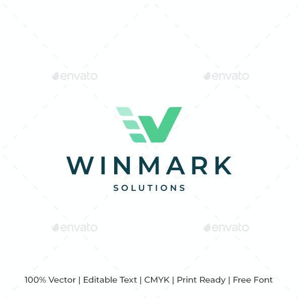 Checkmark W Letter Logo