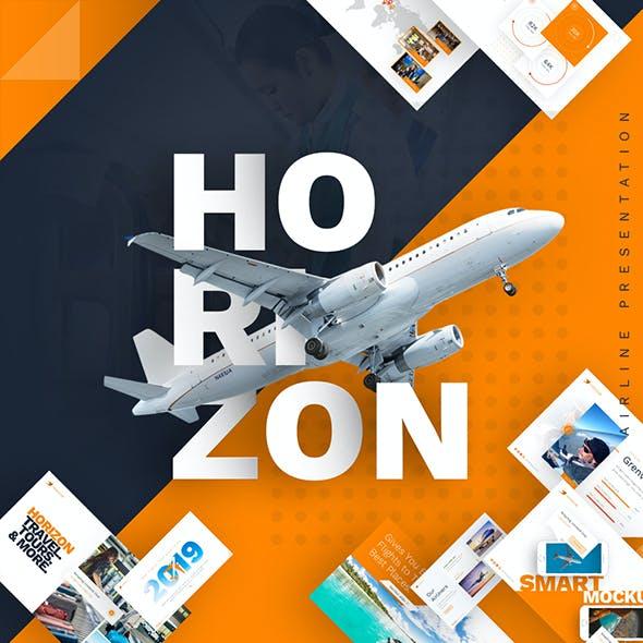 Horizon Airlines Presentation PowerPoint Template