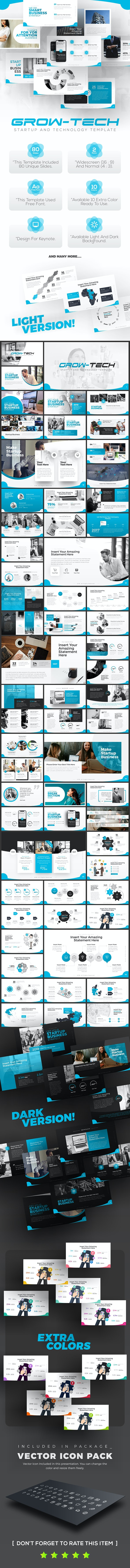 Grow-Tech Business Startup keynote Template - Keynote Templates Presentation Templates