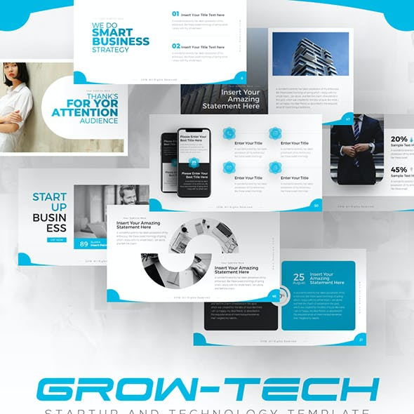 Grow-Tech Business Startup keynote Template