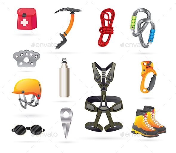 Equipment for Mountaineering and Hiking. - Buildings Objects