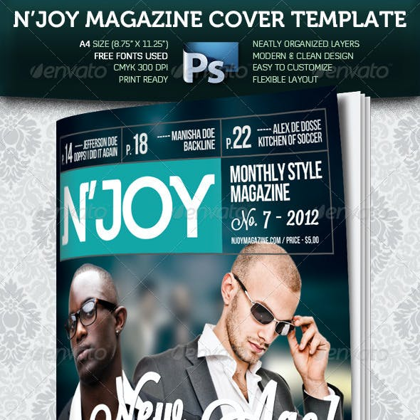N'joy A4 Magazine Cover