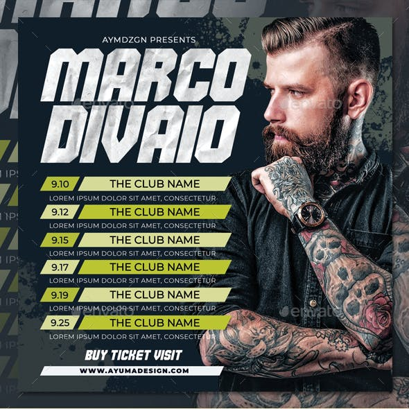 DJ Tour Dates Flyer