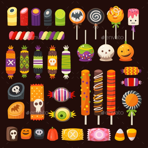 Classic Halloween Candy.Halloween Candy Vector Images By Moonery Graphicriver