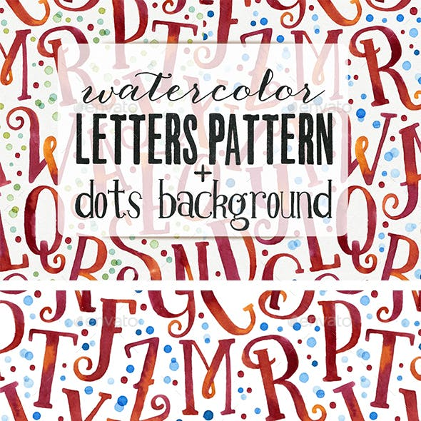 Watercolor Letters Patterns