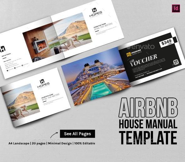Airbnb House Manual/Guidebook Template - Brochures Print Templates
