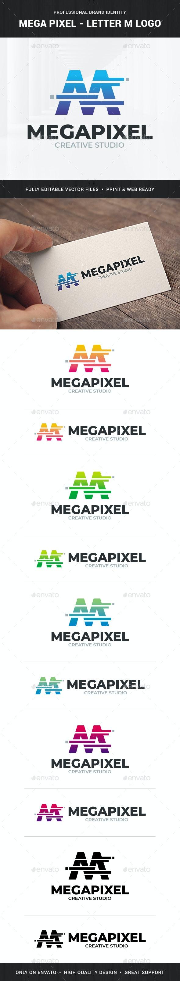 Mega Pixel - Letter M Logo - Letters Logo Templates