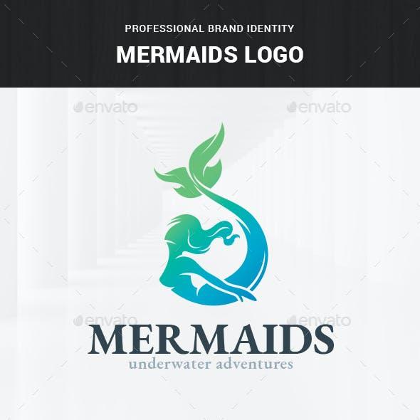 Mermaids Logo Template