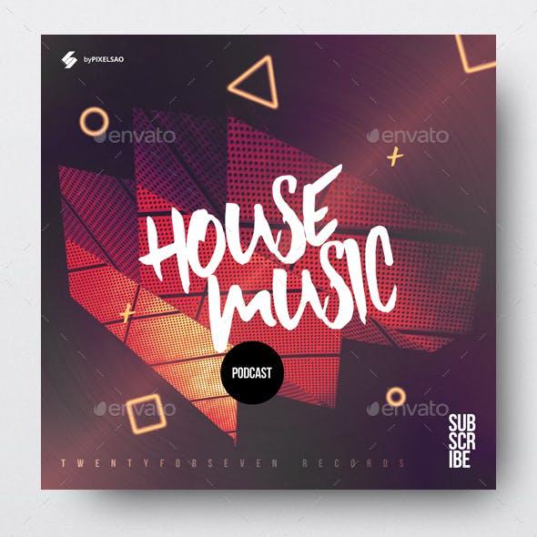 House Music Podcast - Album Cover Artwork Template