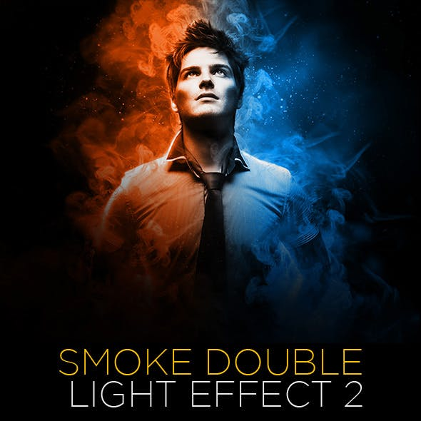 Smoke Double Light Effect Photoshop Action Vol.2 Updated