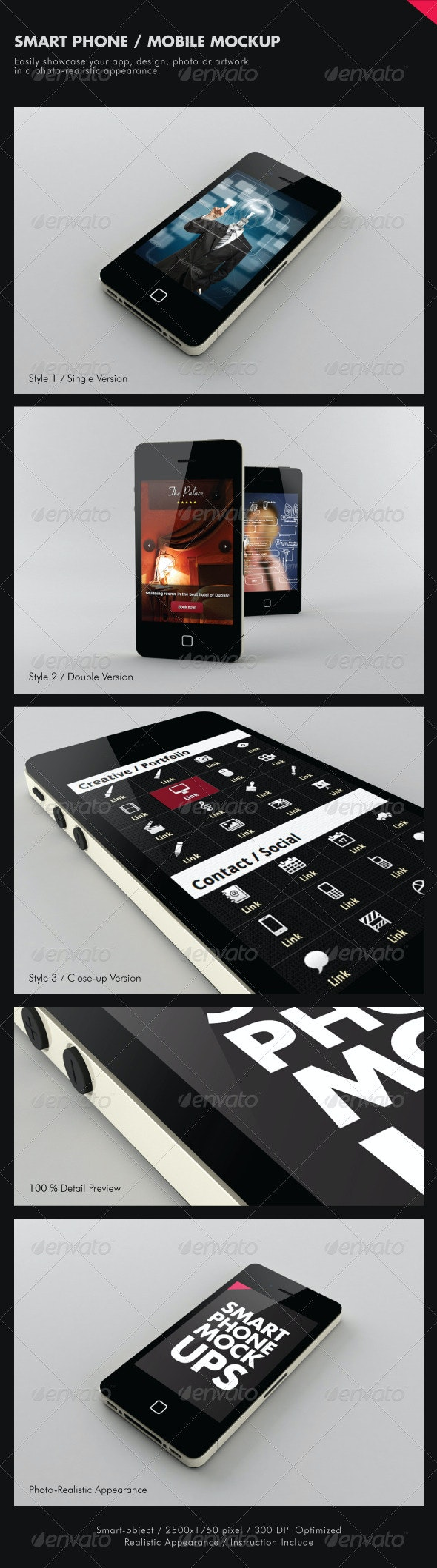 Smart Phone / Mobile Mock-ups - Mobile Displays