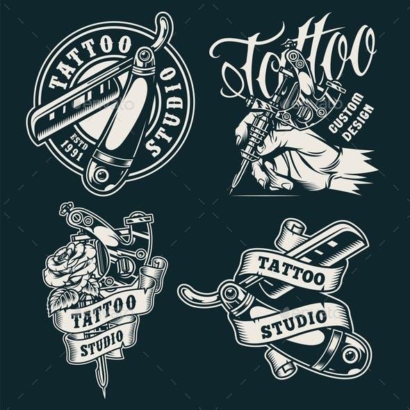 Vintage Tattoo Badges