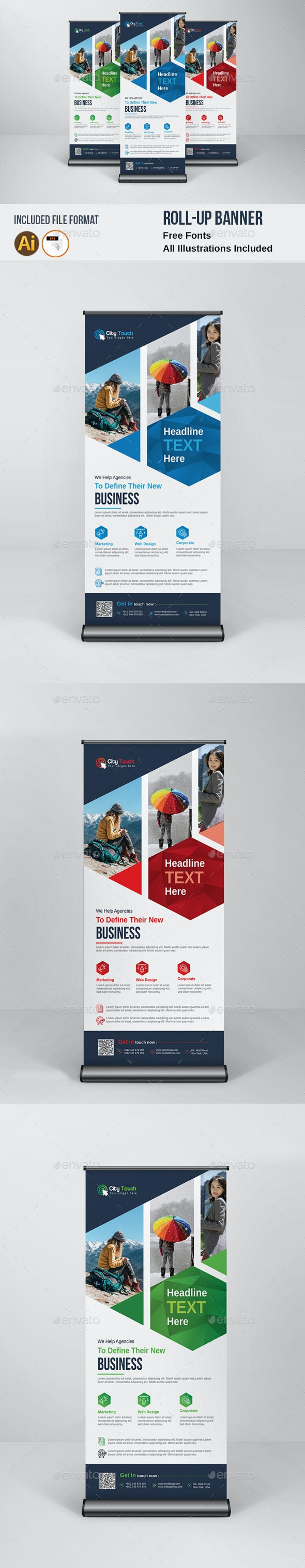 Roll-Up Banner - Print Templates
