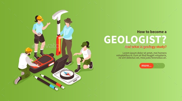Become Geologist Horizontal Banner - Industries Business