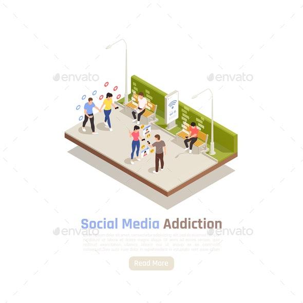 Social Media Addiction Background - Media Technology