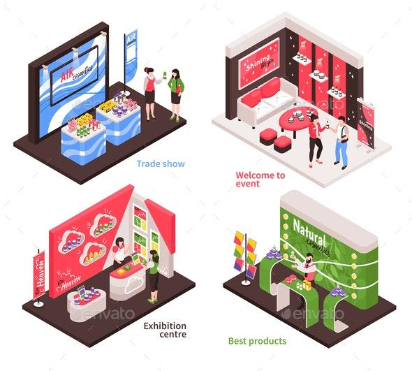 Expo Stand Design Concept - Miscellaneous Vectors