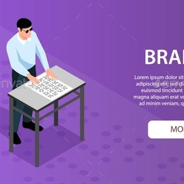 Blind Braille Reading Banner