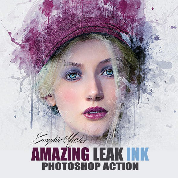 Leak Ink Photoshop Action by GMaster