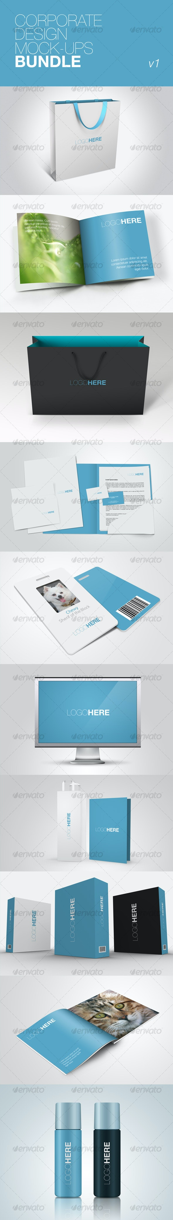 Corporate Design Mock-ups Bundle v1 - Miscellaneous Packaging