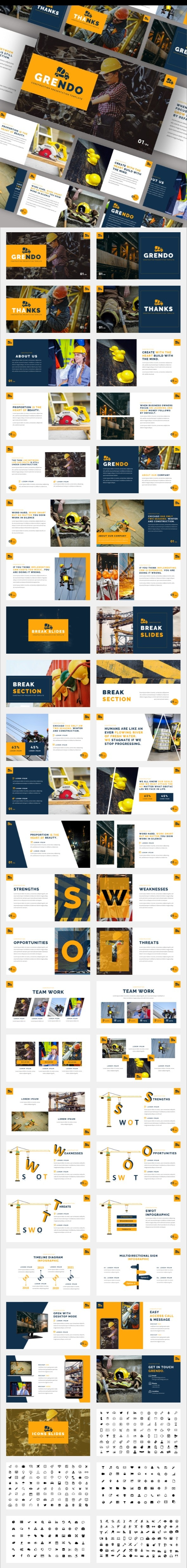 Grendo - Construction Keynote Template - Business Keynote Templates