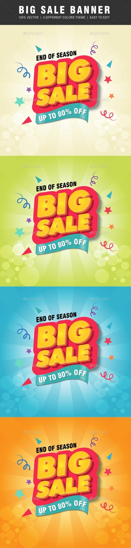 Big Sale Banner - Banners & Ads Web Elements