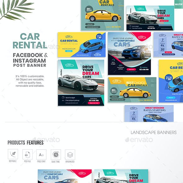 Social Media Banners-Car Rental