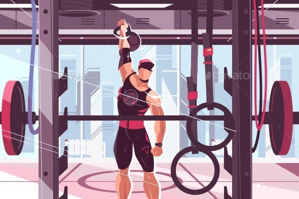Athlete Training in Gym - Sports/Activity Conceptual