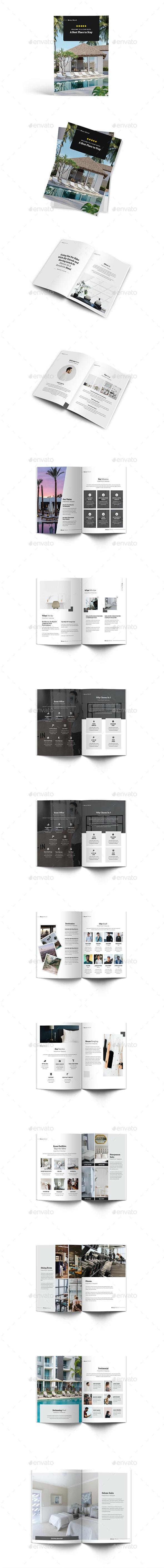 Moxa Hotel A4 Brochure Template - Brochures Print Templates