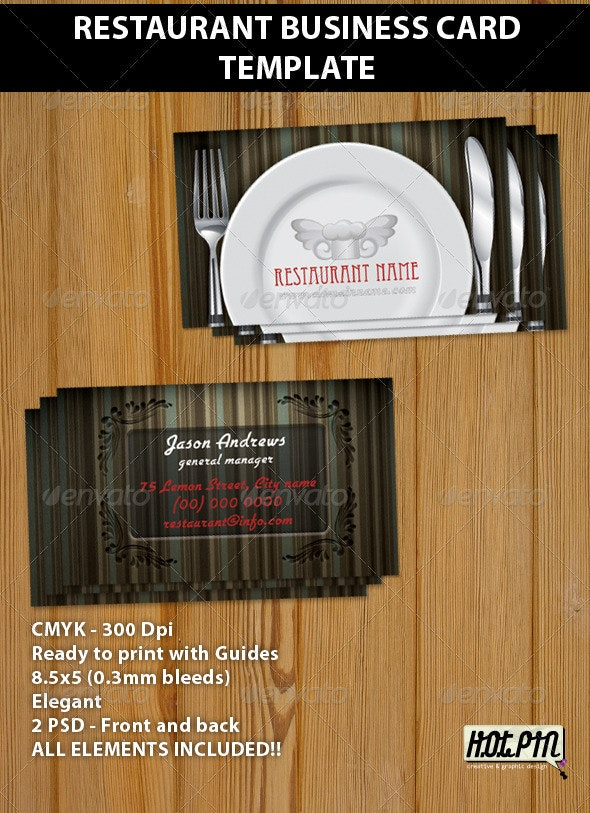 Restaurant Business Card Template  - Industry Specific Business Cards