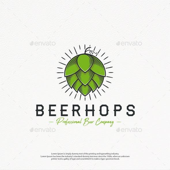 Organic Beer Hops Logo