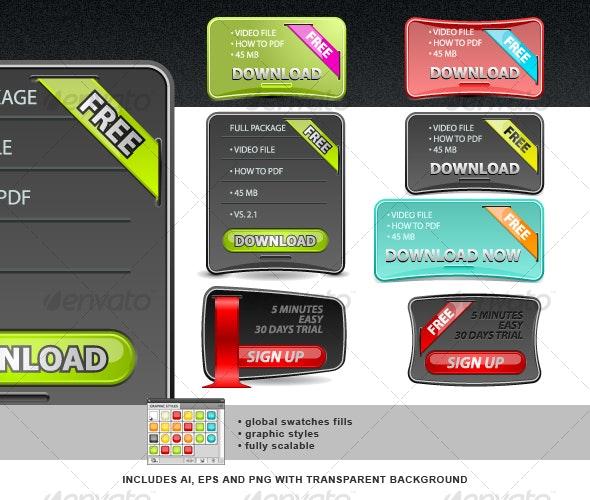 Web Boxes Set - Web Elements