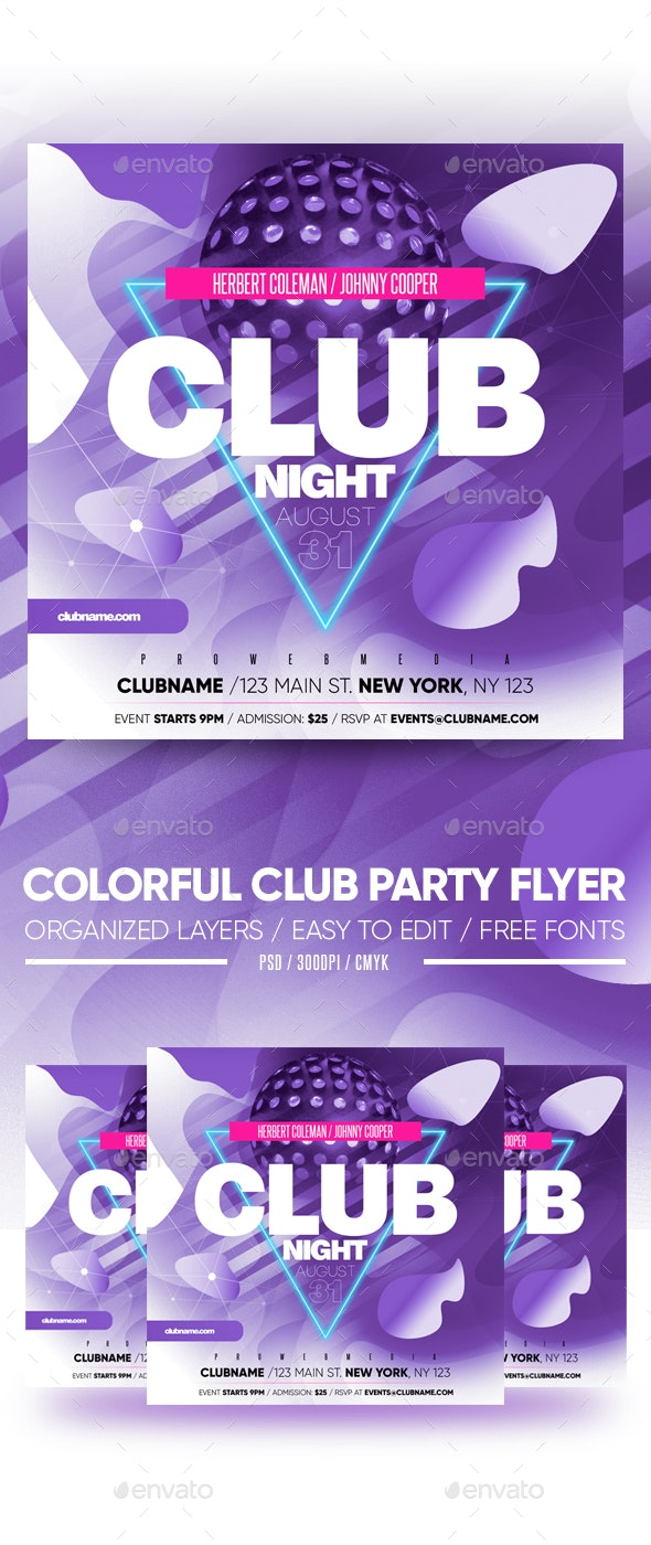 Colorful Club Party Flyer - Clubs & Parties Events