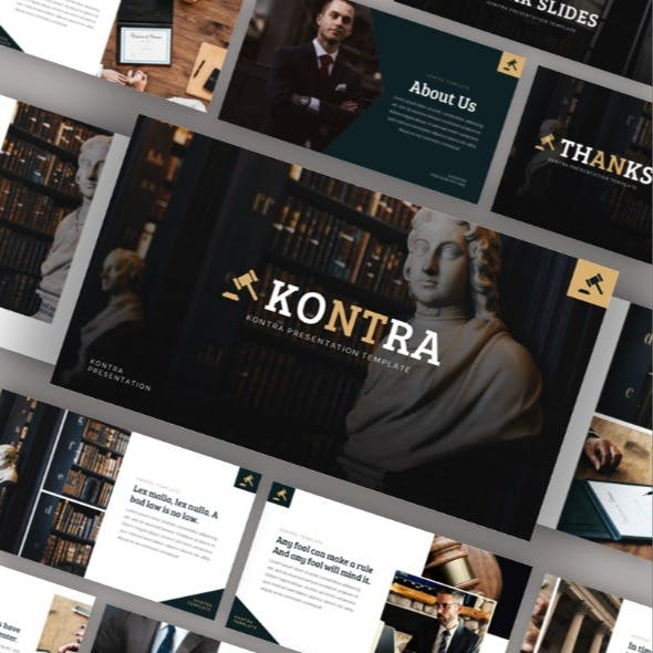 Kontra - Attourney & Lawyer Powerpoint Template