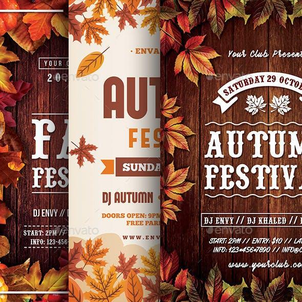 Autumn Flyers Bundle