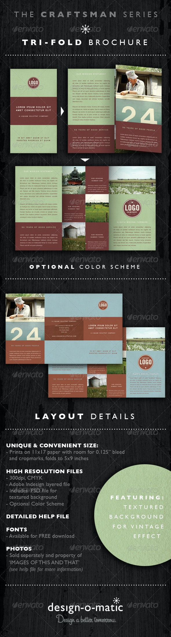 Tri-fold Brochure Template INDD - Corporate Brochures